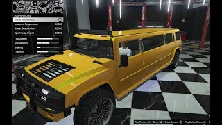 GTA 5 - DLC Vehicle Customization - MAMMOTH PATRIOT STRETCH (Hummer Limo) and Review