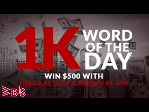 Déjà Vu Has Your Chance to Win $1,000 Everyday!