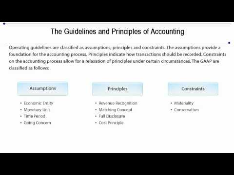 Accounting - Generally Accepted Accounting Principles Tutorial 7 of 10