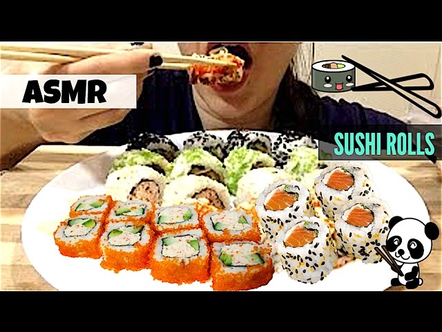 Asmr The Best Sushi Rolls Asmr Ever Eating Show Mukbang Extreme Chewy Eating Sounds