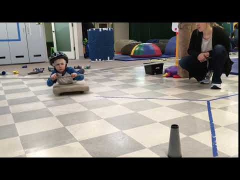 Pediatric Occupational Therapy exercise boys to develop coordination and improve focus