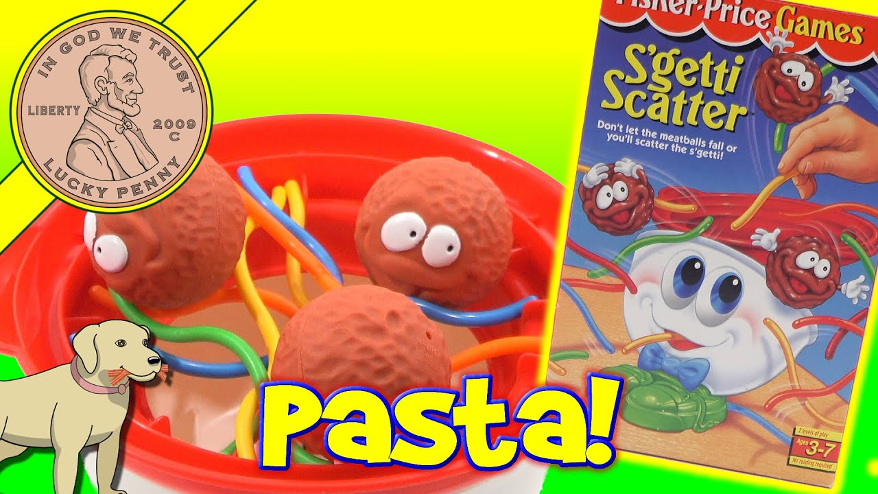S'getti Scatter Spaghetti & Meatball Family Game - YouTube