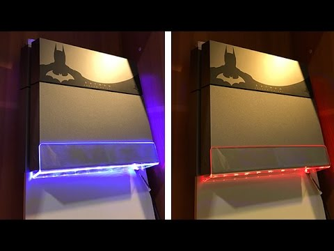 wandhalterung f r eure ps4 konsole mit led beleuchtung dr unboxking deutsch youtube. Black Bedroom Furniture Sets. Home Design Ideas