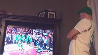 Boston Celtics Fan Game Winning Reaction