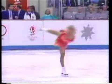 カレン・プレストン アルベールビルオリンピック1992 フリー演技 (解説 ...