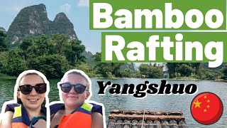 BAMBOO RAFTING YANGSHUO DAY 1 China Travel Vlog 2021
