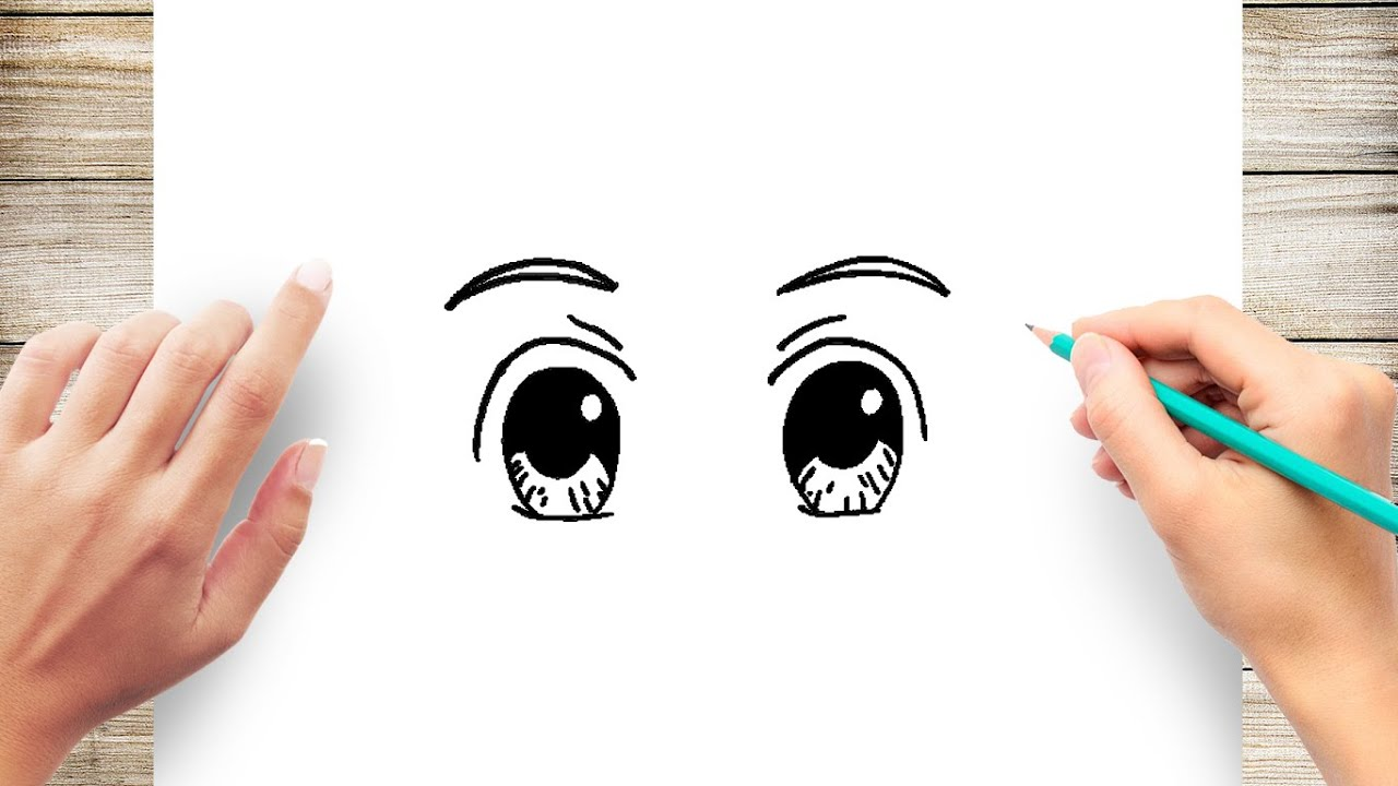 How To Draw Anime Eyes Step By Step For Kids Youtube