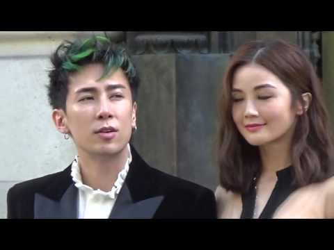 Charlene Choi 蔡卓妍 & Mayao Tianyo @ Paris Fashion Week 29 september 2016 show Balmain