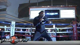 Keith Thurman vs. Robert Guerrero- Thurman media workout- MGM Grand