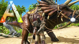 ARK Survival Evolved 3 | TAMING Triceratops / Trike | Funny Tribe Moments | Gameplay 1080p HD