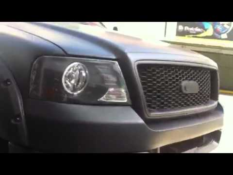 Black Ford F150 >> Ford F150 monster Black Mate Wrap - YouTube