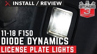 2017-2018 F150 Diode Dynamics LED License Plate Lights Install and Review
