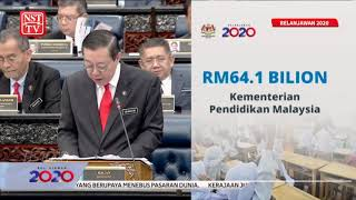 2020 Budget: Education receives highest allocation