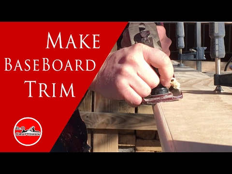 Saving money and making your own baseboard trim.