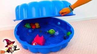 La Nueva Piscina para el Patito Nemo y Cocodrilo