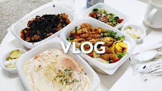 4k vlog 다이어트 샌드위치, 낙지볶음 먹고 친구랑…