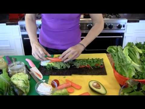 How to make a raw vegan nori wrap recipe video youtube how to make a raw vegan nori wrap recipe video forumfinder Images