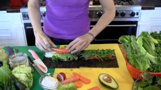 How To Make A Raw Vegan Nori Wrap Recipe Video