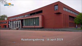 Raadsvergadering 16 april 2019