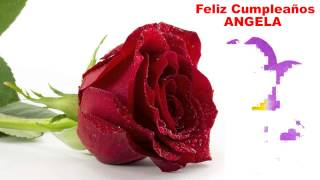 AngelaSpanish - flowers - Happy Birthday