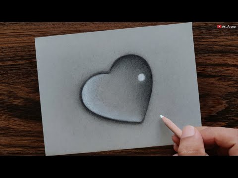 heart-waterdrop-drawing-with-pencils---step-by-step