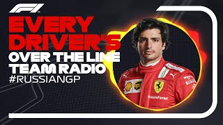 Every Driver's Radio At The End Of Their Race   2021 Russian Grand Prix