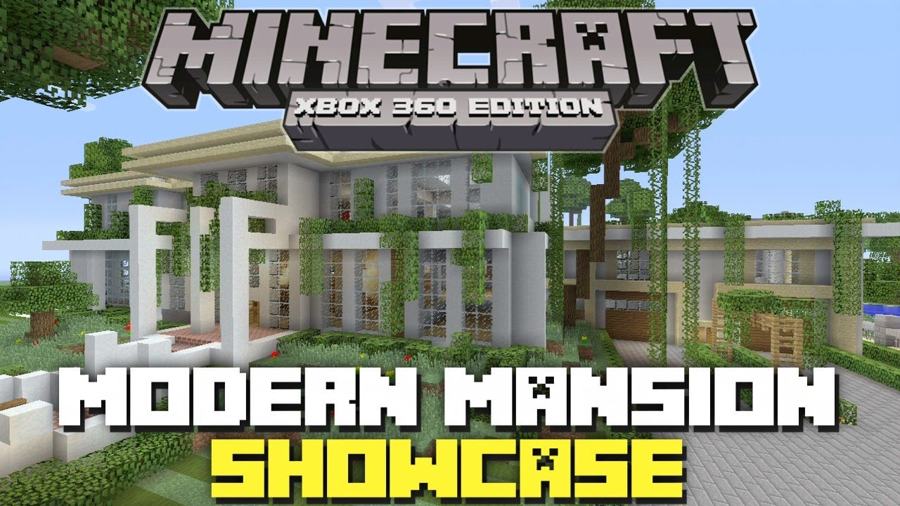 Minecraft xbox 360 edition modern mansion showcase youtube for Modern house xbox minecraft