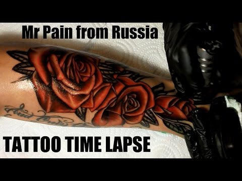 Red Roses - Tattoo Time Lapse