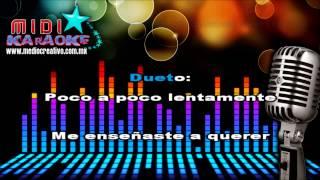 Ya no vivo por vivir - Juan G. & Natalia (MIDI - Karaoke)