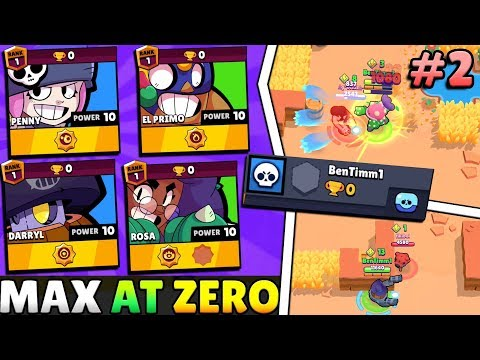 WE USED MAX BRAWLERS AT ZERO TROPHIES IN SHOWDOWN... OHHH NO!! (PART 2)