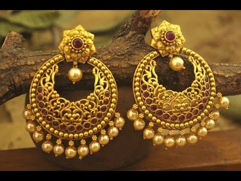 Latest gold earrings designs | Simple & Light Weight Gold Earrings Designs
