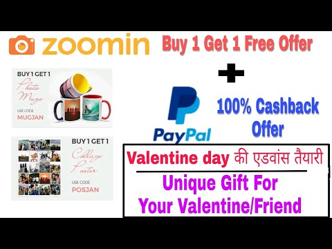 Zoomin 1+1 offer with Paypal 100% Cashback Offer. Best Gifting Idea.