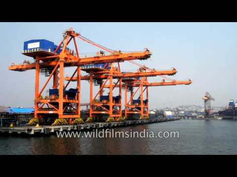 Visakhapatnam port - one of the leading major ports of India