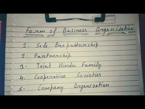 Form of business organization:- sole proprietorship in hindi and simple language