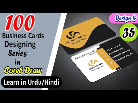 How to create Professional Business Card in CorelDRAW Tutorial with sktacademy|Tutorial Design # 35
