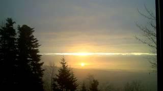 Sunrise behind the Alps 21-12-2013