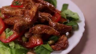 Теплый мексиканский салат с курицей