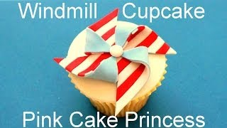 4th Of July Windmill Cupcake - How To Decorate Cupcakes By Pink Cake Princess