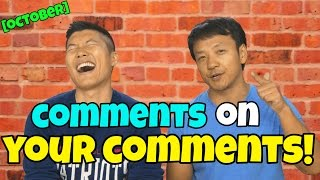 October Comments on Your Comments and Fan of The Month
