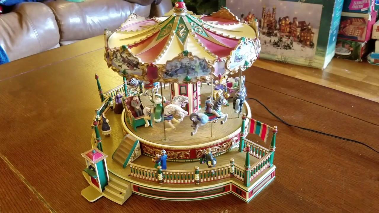 Mr Christmas Carousel.Mr Christmas Holiday Around The Carousel