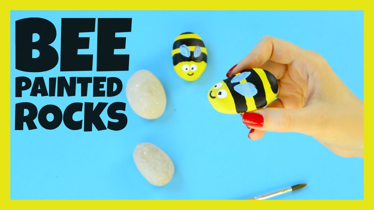 Bee Painted Rocks Craft For Kids Youtube