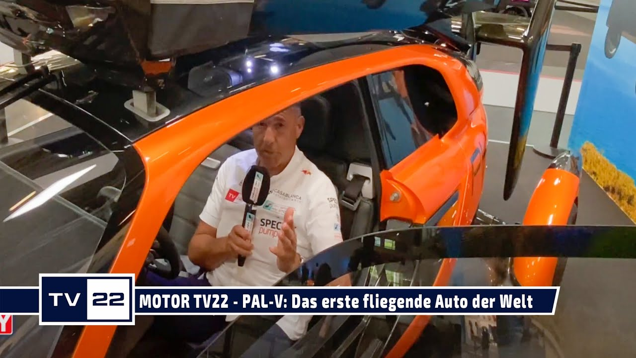Ein Auto geht in die Luft auf Gyrokopterbasis - PAL-V auf der IAA Mobility 2021 - MOTOR TV22