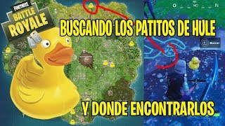 FORTNITE BATTLE ROYALE LA BUSQUEDA DE LOS PATITOS DE GOMA O HULE