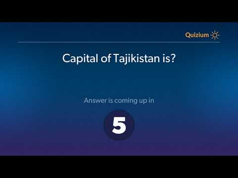 Capital of Tajikistan is?   Countries and Capitals Quiz