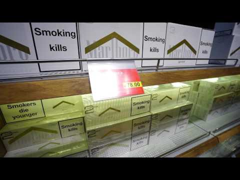 Turkey, Istanbul Atatürk Airport, cigarette prices - YouTube