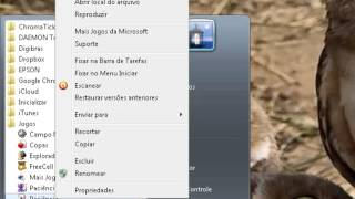 Windows 7 - Fixar icones na Barra de Tarefas e no Menu Iniciar