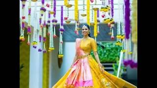 Haldi outfits/ haldi bridal outfits/ yellow outfit for haldi bride /latest fashion ideas/ pithi wear