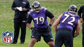 Ronnie Stanley Ravens Rookie Camp Highlights | Baltimore Ravens | NFL