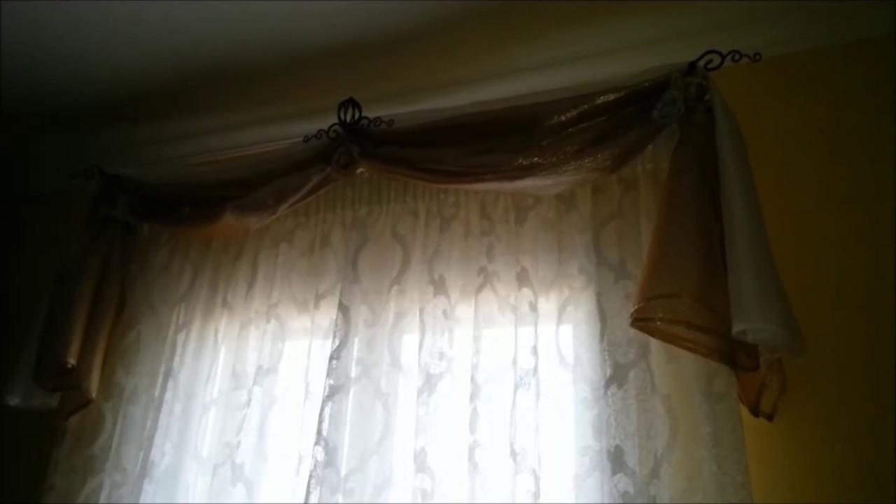 Porta fourlard per mantovane con telo reginella medaglioni