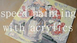speed painting, flowers // ускоренное видео, цветы(, 2016-04-02T11:32:17.000Z)